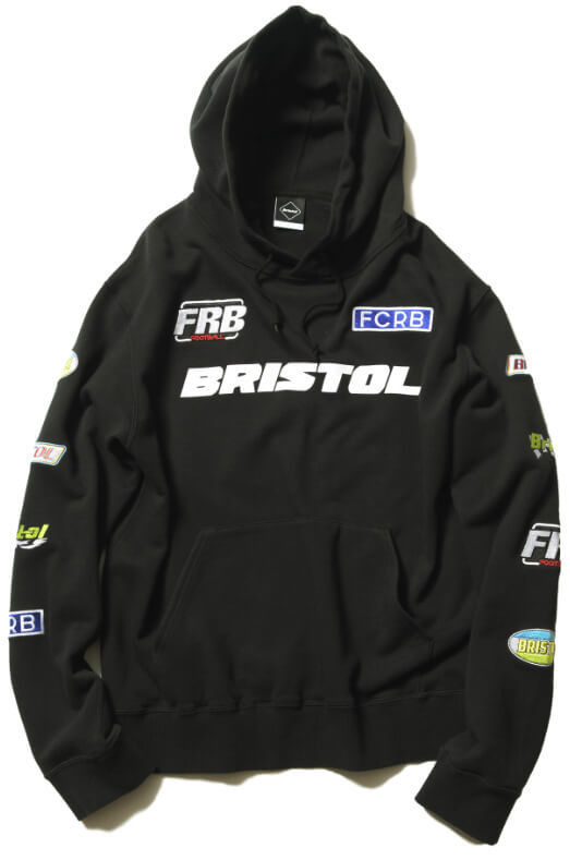 FCRB 2019SS MULTI LOGO PULLOVER HOODIE BLACK