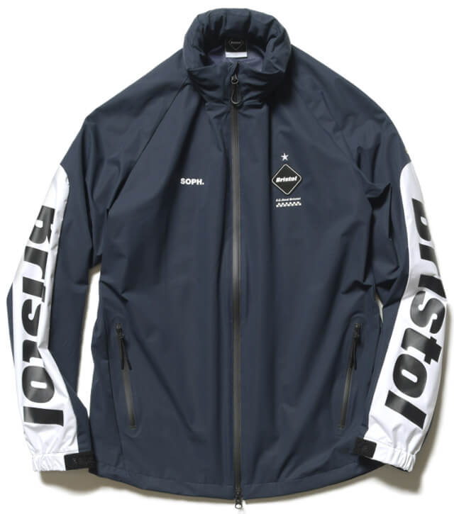 FCRB 2019SS WARM UP JACKET NAVY