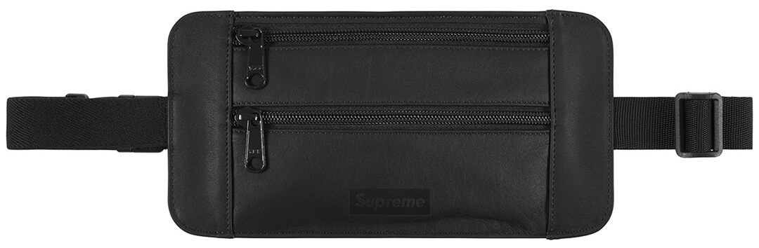 Supreme 2019SS Leather Waist/Shoulder Pouch black