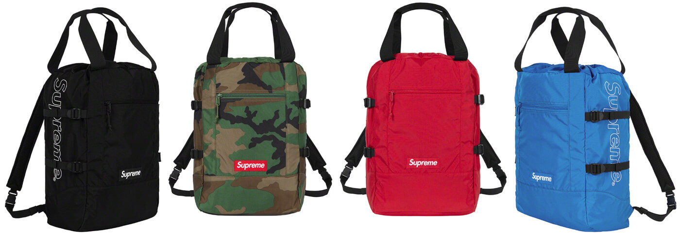 Supreme 2019SS Tote Backpack color