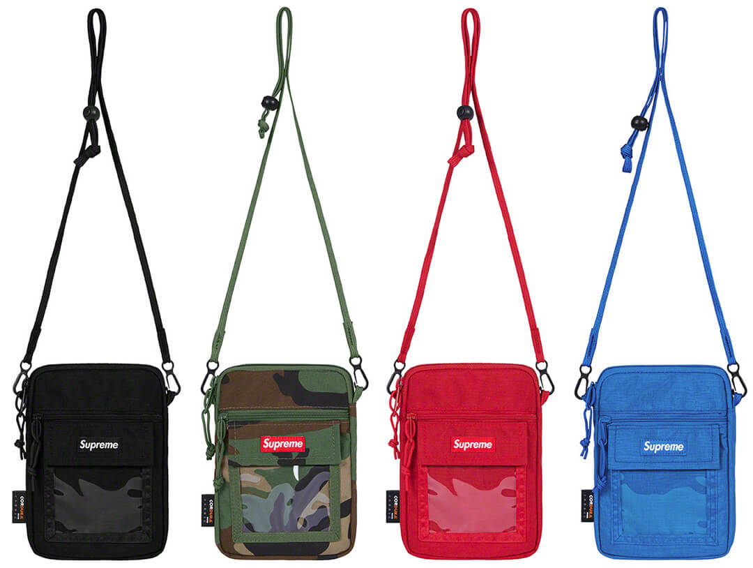 Supreme 2019SS Utility Pouch black woodland_red_royal