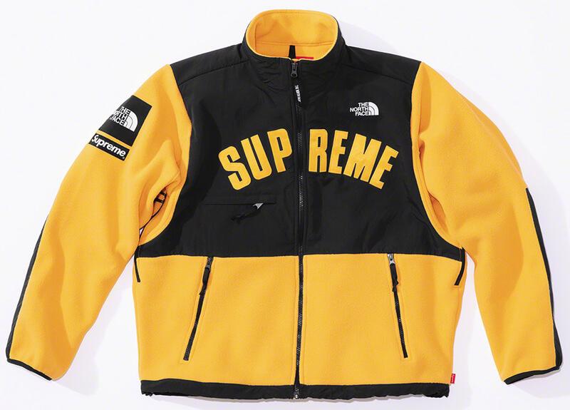 Supreme®/The North Face® Arc Logo Denali Fleece Jacket Yellow Front