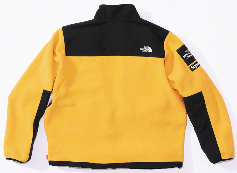 Supreme®/The North Face® Arc Logo Denali Fleece Jacket Yellow Back