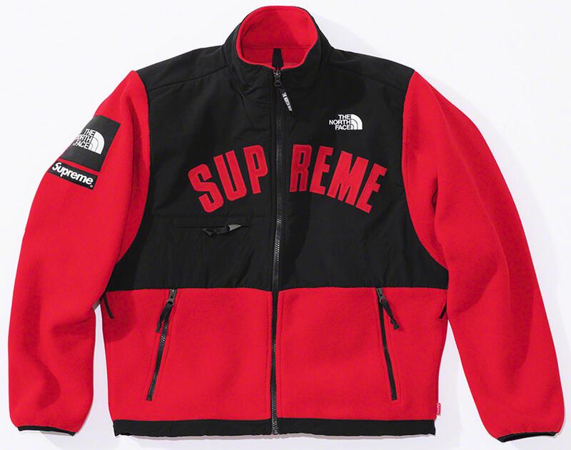 Supreme®/The North Face® Arc Logo Denali Fleece Jacket Red