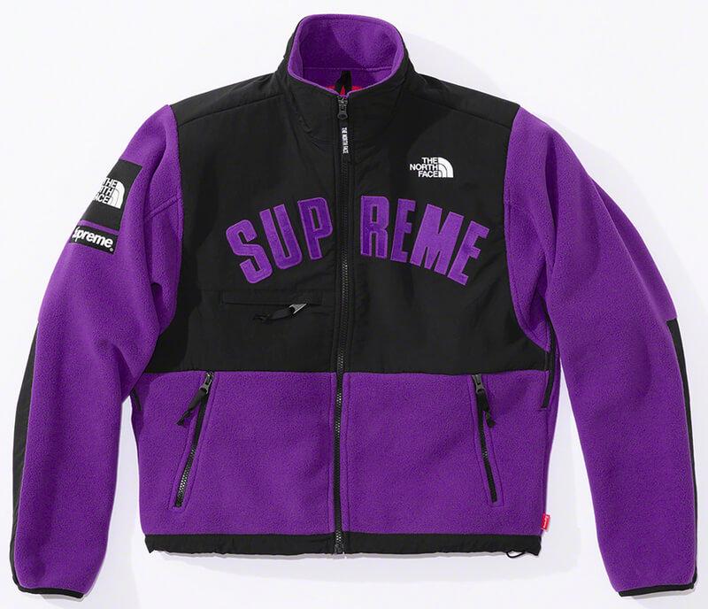 Supreme®/The North Face® Arc Logo Denali Fleece Jacket Purple