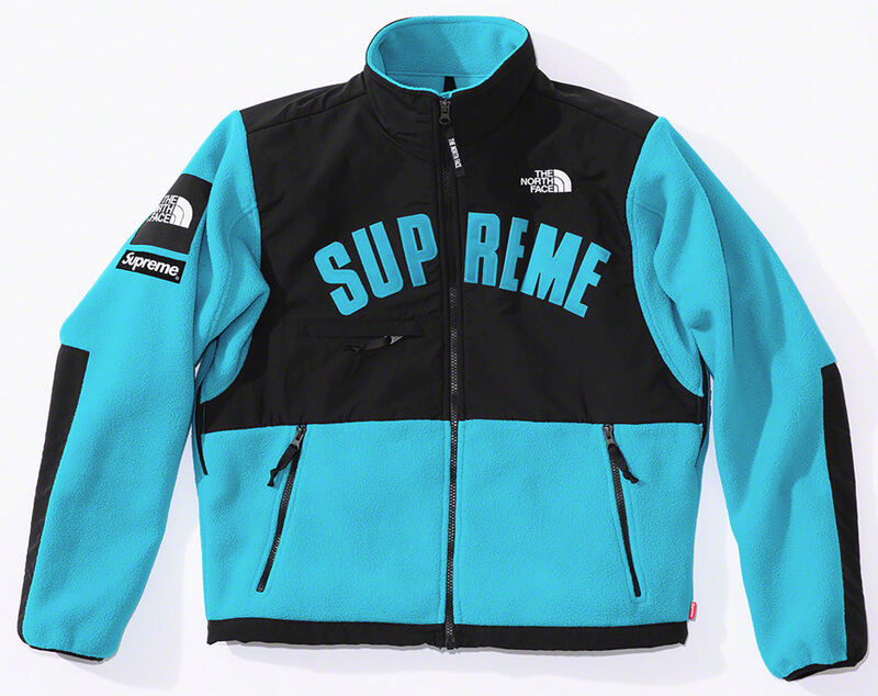 Supreme®/The North Face® Arc Logo Denali Fleece Jacket Blue