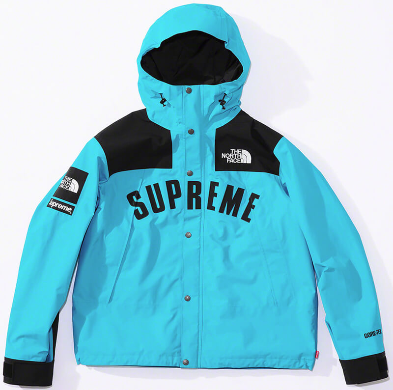 Supreme®/The North Face® Arc Logo Mountain Parka Blue Front