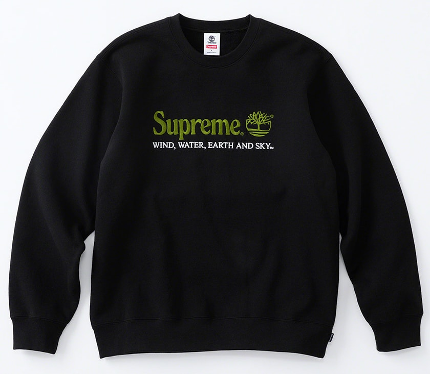 Supreme×Timberland 2020SS Week5 クルーネック Crewneck ブラック