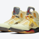 【10/29発売】Off-White × NIKE AIR JORDAN 5 Sail Fire Red DH8565-100